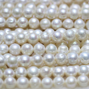 12-15mm a Large Round Natural Freshwater Pearl Strands E180005 pictures & photos