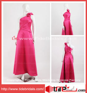A-Line Satin Bridesmaid Wear Tea Length Bridesmaid Dress (TC08072)