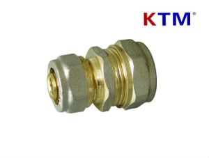 Brass Pipe Fitting of Reducing Straight Connector pictures & photos