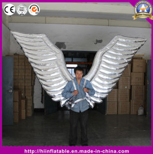 New Brand Event Performance Inflatable Parade Costumes Inflatable Silver Angle Wings pictures & photos