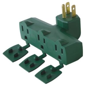 UL Approval 3 Outlet Grounding Adapter with Cover pictures & photos