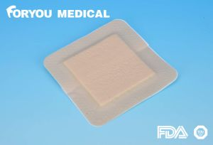 CE FDA Low Sensitive High Absorption Border Silicone Foam Dressing pictures & photos