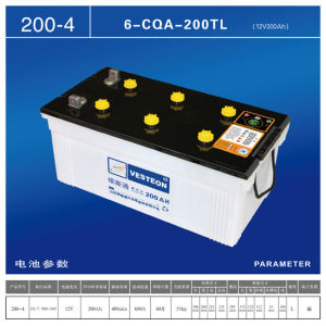 12V Dry Charged Auto Battery Truck Battery 200ah pictures & photos