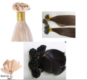 U-Tip/Nail Hair Keratin Pre-Bonded Human Hair Extensions (BHF-0056) pictures & photos