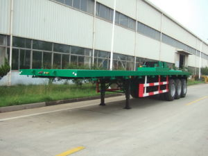 13m Flatbed Semi-Trailer With 3 Axles (ZJV9408LB) pictures & photos