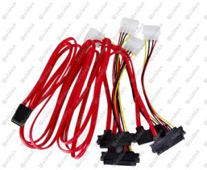 """Professional Internal 36"""" Mini Sas to 4 Sas Data Cable pictures & photos"""