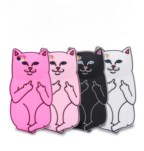 Cell Phone Accessory for iPhone Cat Shape Silicone Phone Case pictures & photos
