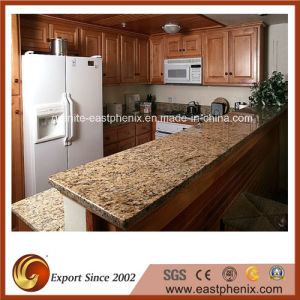 Natural Polished Golden/Beige/Yellow Granite Kitchen Countertop pictures & photos