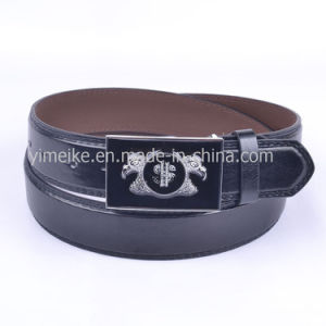 OEM Promotion Upscale Design Mens Classical Snap Buckle PU Belt pictures & photos