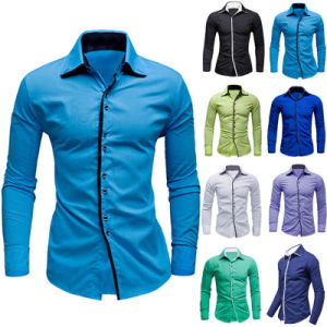 Sky Blue Cotton Dress Shirt for Men (A446)