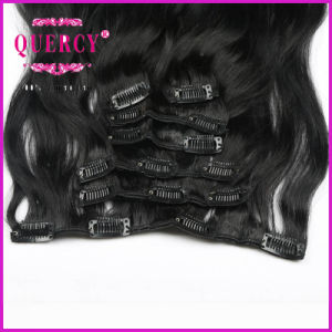 Unprocessed Virgin Remy Brazilian Human Hair Double Drawn Thick Ends Clip in Hair pictures & photos