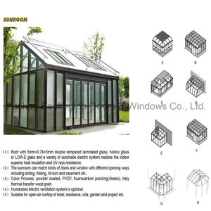 Aluminium Sunroom for Garden Villa Residence Hotel (FT-S) pictures & photos
