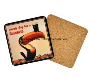 Custom Cartoon Printed Wood Cork Cup Coaster pictures & photos