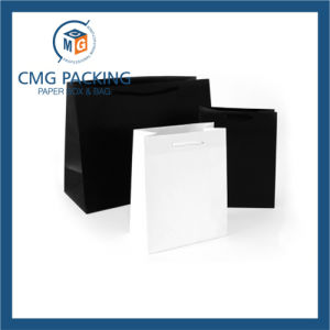 White and Black Clothing Promotion Paper Bag (CMG-PGBB-019) pictures & photos