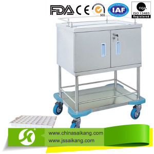 China Factory Simple Utility Transfer Medicine Trolley Equipment pictures & photos