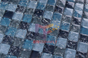Blue Crystal Cracked Glass Mosaic Tile (CC164) pictures & photos