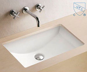Bathroom Wash Hand Sink Rectangular Art Ceramic Basin