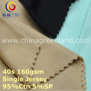 Cotton Spandex Single Jersey Knitting Fabric for Garment Textile (GLLML415) pictures & photos
