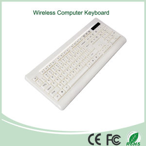 White Color Ultra-Thin Mini Wireless Keyboard (KB-1802W) pictures & photos