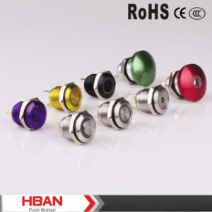 Hban CE RoHS (16mm) Circle Illuminated Vandal Waterproof Pushbutton pictures & photos