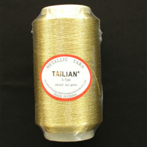 450d Gold Polyester Metallic Yarn pictures & photos