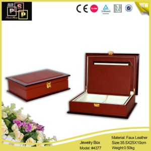 2016 China Supplier Style Classical Red Leather Paper Jewelry Box pictures & photos