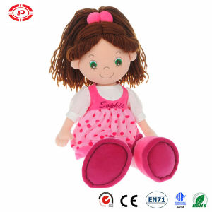 Rag Toy Cute Baby Girl Quality Sitting Stuffed Plush Doll pictures & photos