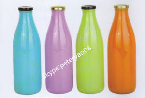 1L Glass Milk Bottle with Color pictures & photos