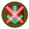 Red Cross and Green Arrow LED Traffic Light