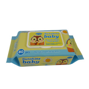 Cartoon Picture 80 PCS Baby Wet Wipe pictures & photos