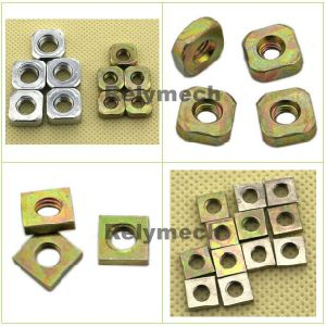 Carbon Steel Zinc Plated Square Nut with Angle/Chamfersquare Nut--- Carbon Steel with Zinc Plated pictures & photos