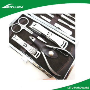 Elegant Stainless Steel 9 in 1 Manicure Pedicure Set for Travelers pictures & photos