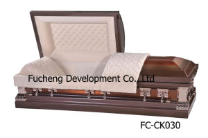 Funeral Casket & Coffin Franklin Bronze Brushed Copper Finish (FC-CK030) pictures & photos