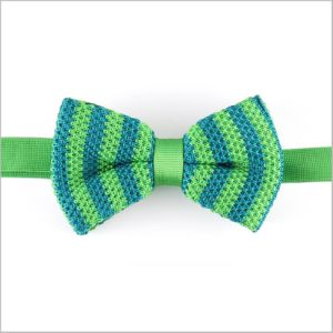 Stylish Light Green Silk or Polyester Knitted Bow Tie Male Female Boy Baby Shild Bow Tie (YWZJ 53) pictures & photos