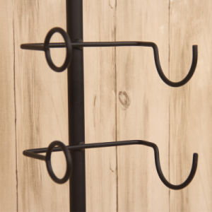 European Wrought Iron Wall Wine Rack Wine Bottle Racks pictures & photos