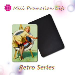 Retro Series Blonde Lady Factory Made Fridge Magnet pictures & photos
