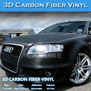 Hot Sale Carbon Fiber Film 3D Vinyl Sticker for Car