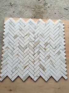 Herribone Calacata Gold Marble Mosaic, Mosaic and Mosaic Tiles pictures & photos