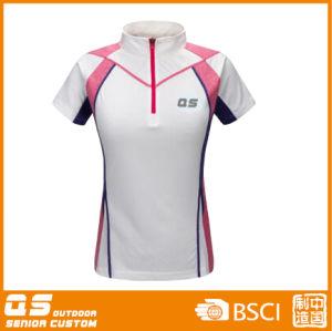 Women′s Half Zipper Sport Running T-Shirt pictures & photos
