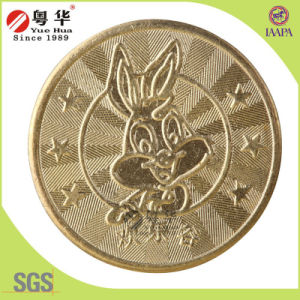 Promotional Brass Metal Gold Game Token Coin for Coin Operated Games pictures & photos