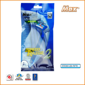 High Quality Stainless Steel Twin Blade Disposable Razor (LB-5070) pictures & photos