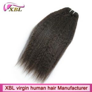 Human Hair Weaving Kinky Straight Cambodian Hair pictures & photos