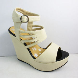 Lady Wedge Shoes with Ankle Strap