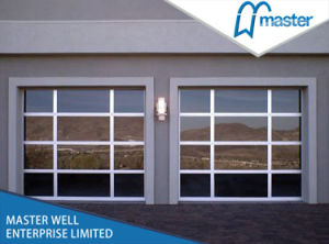 Laminated Glass Aluminum Alloy Glass Garage Doors Commercial Manufactu. pictures & photos