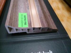 Ck Laminated Flooring PVC Skirting Board Decorated by Aluminum Strip pictures & photos