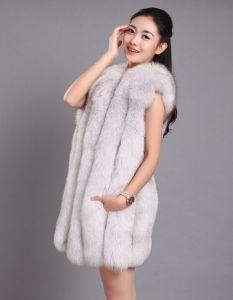 Best Quality Fox Fur Vest / Beautiful Women Fox Fur Vest pictures & photos