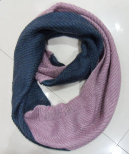 Lady Fashion Acrylic Mohair Knitted Winter Warm Infinity Scarf (YKY4183) pictures & photos