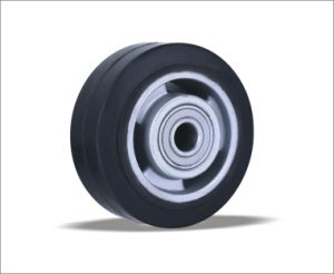 Wholesale China Products Elastic Rubber Wheel Caster Wheel pictures & photos