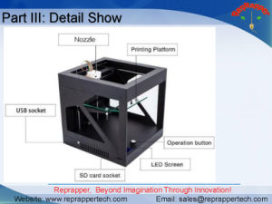 Reprappertech Ultibot Y200 3D Printer Desktop 3D Printer for Education Fdm 3D Printer pictures & photos
