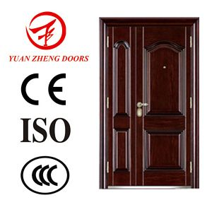 Sliding Security Double Steel Door in China pictures & photos